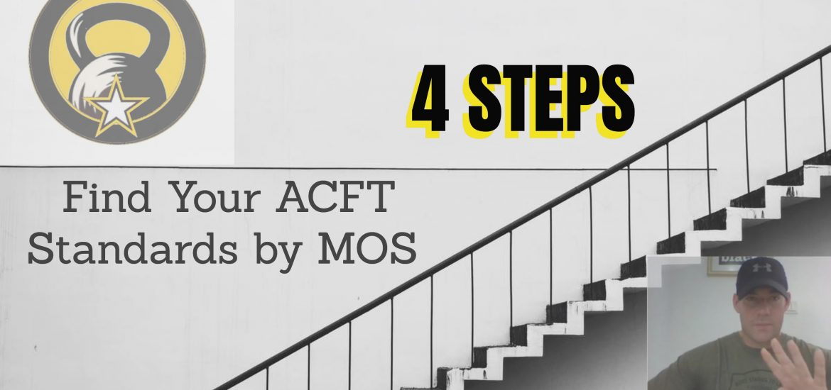 ACFT Standards by MOS - Score Chart PDF | New Army PT Test