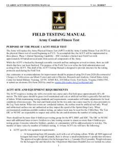 ACFT ScoreCard – Fillable PDF – US Army | New Army PT Test