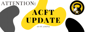 ACFT Update! for MOS ARMY STANDARDS