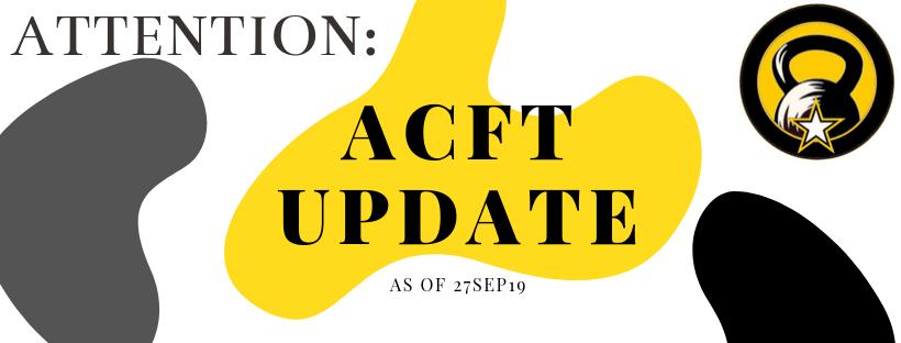 ACFT Score Chart Standards