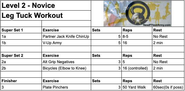 Army Leg Tuck ACFT Level 2