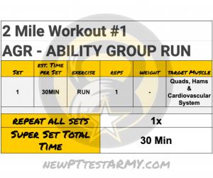 AGR - Ability Group Run Monday new