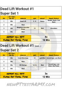 Dead Lift Workout #1 New 1&2