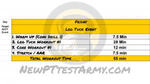 ACFT Workout Plan - Friday Training