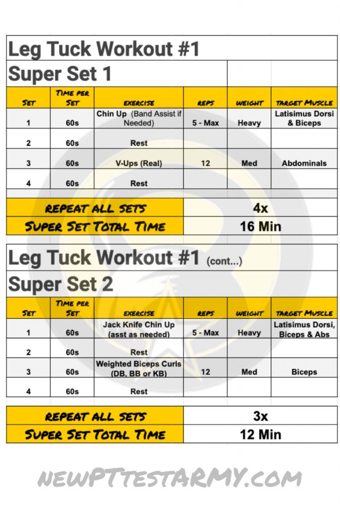 Leg Tuck ACFT Workout Plan