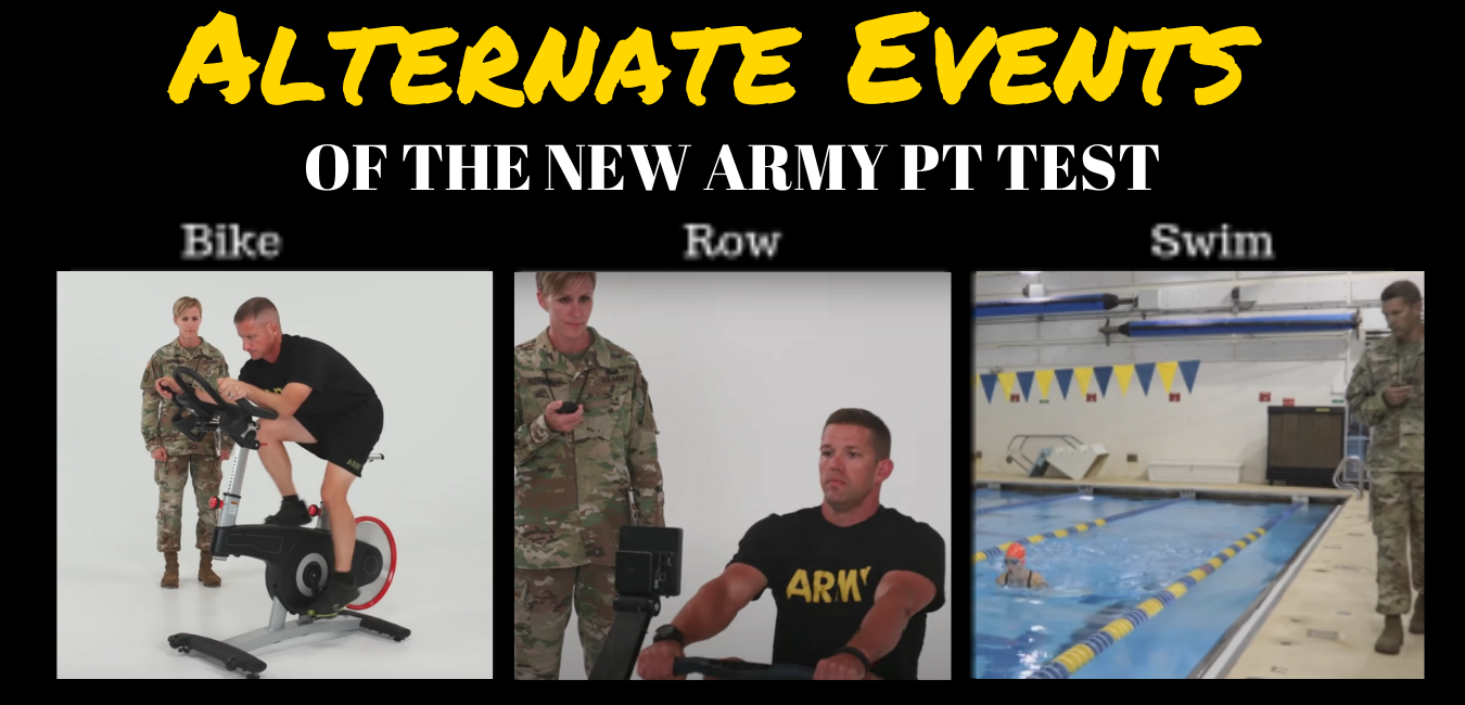What are the alternate events for the ACFT