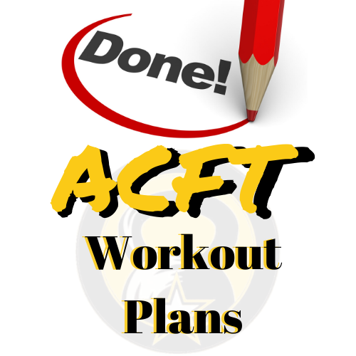 Done for you ACFT Workout Plans