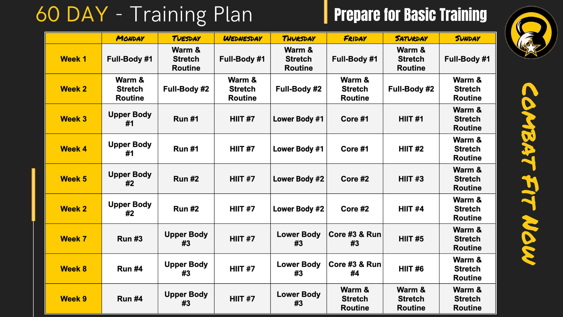 Schedule workout routine What Is